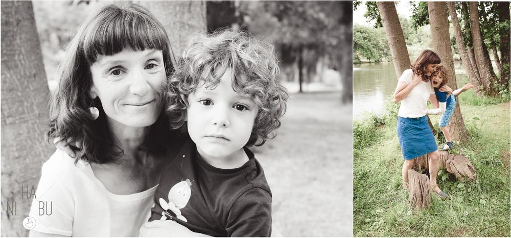 Mutter und Sohn Fotoshoot