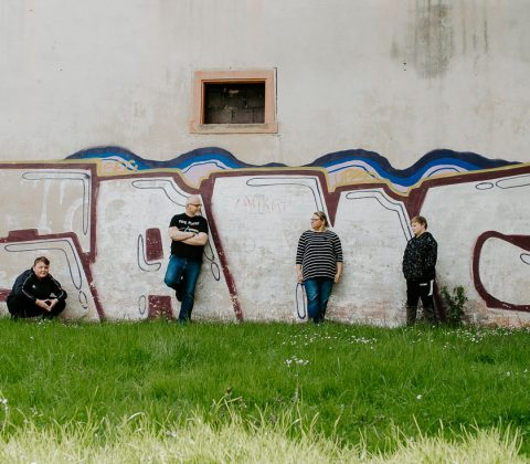 Graffiti-Streetart-Familie